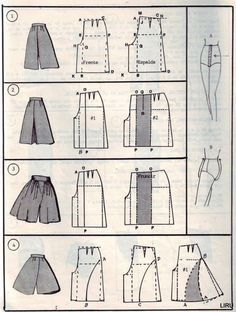 Transform skirt to culottes pattern
