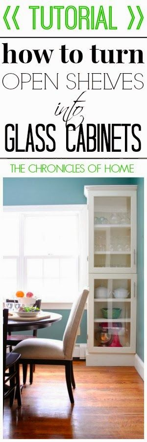 you can add custom glass cabinet doors to any shelf in your house the chronicles