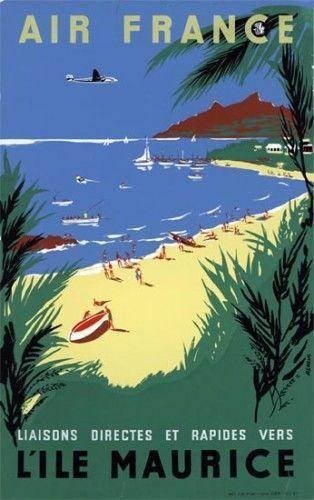 Affiche Air France- Île Maurice
