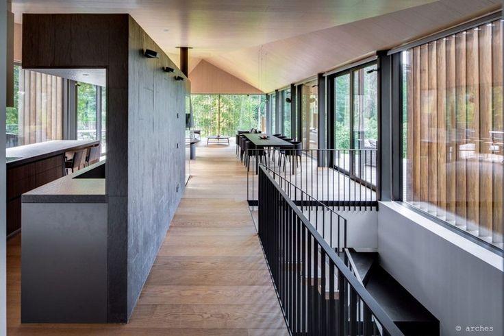 en bois massif, revêtement de sol en parquet massif, cuisine sans ...
