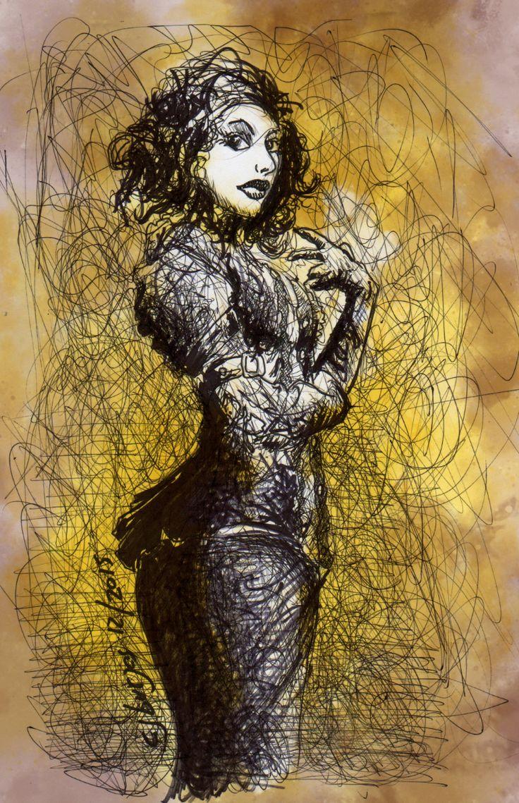1 hour #sketch #sexy #steampunk #pinup