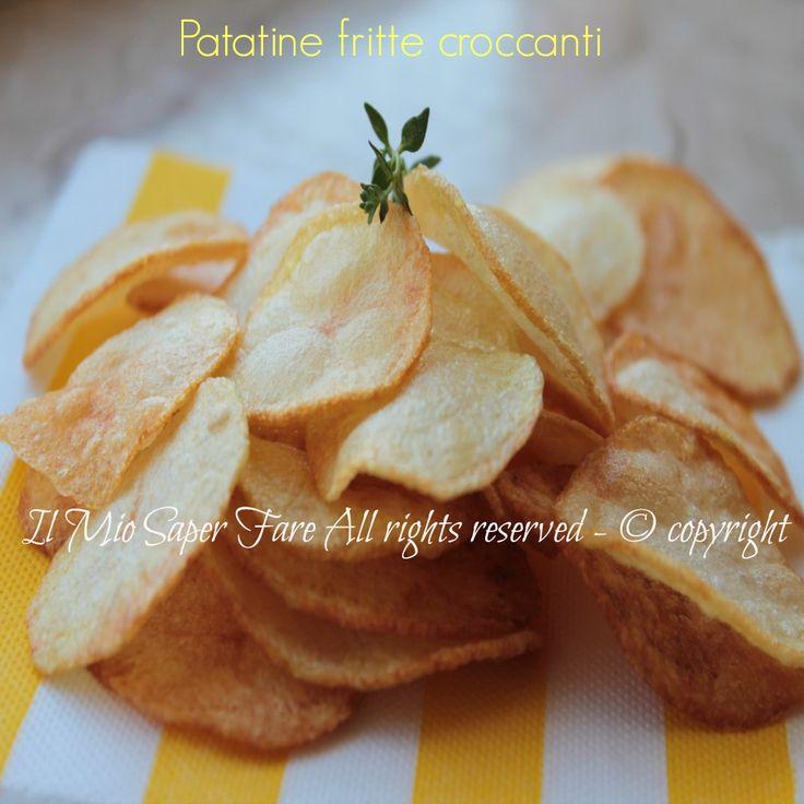 Patatine fritte croccanti e asciutte ricetta il mio saper fare