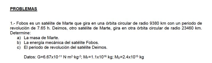 Ejercicio de Gravitación propuesto en el examen PAU de Canarias de Junio de 2015, opción B.