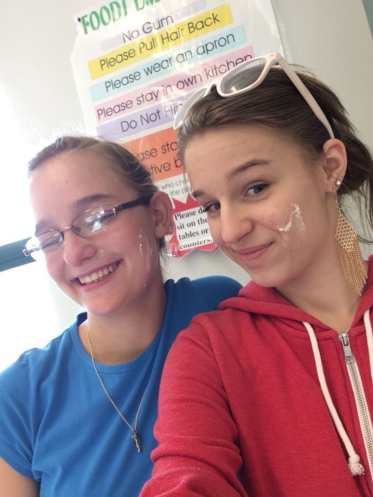 Got into a frosting fight today during foods!!!!!! yummy frosting for later