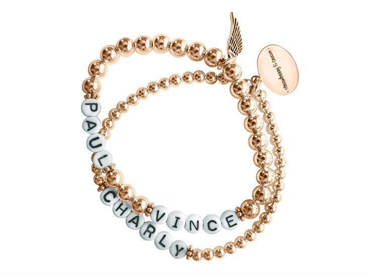 rosegolden name bracelets by strawberry & cream roségoldene Namensarmbänder von strawberry & cream