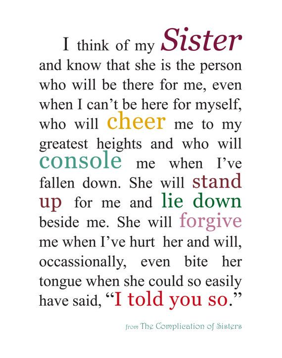 Pin By Amanda Forsyth On Kids Sister Quotes Love My Sister Sisters