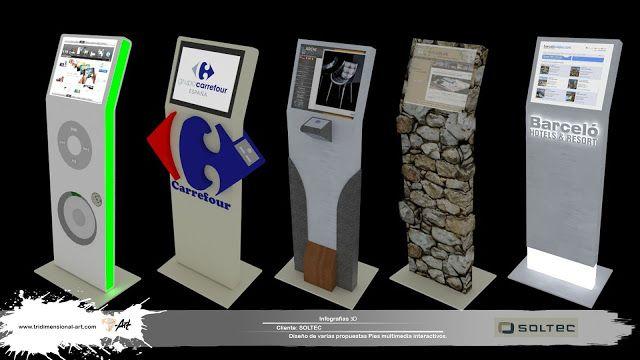 infografías 3d interactive multimedia totems