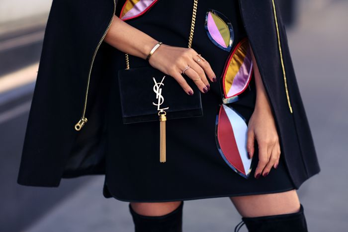 ysl Monogram velvet bag with tassel | { Handbags } | Pinterest ...