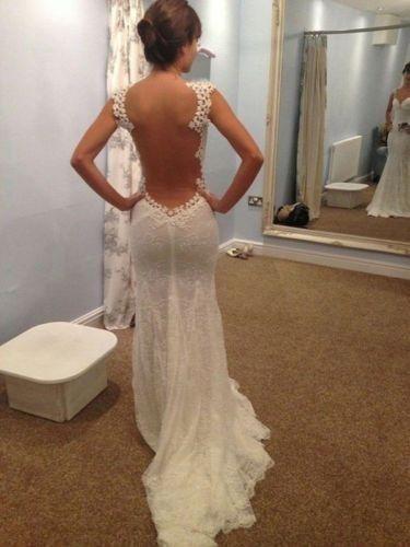 Meerjungfrau-Hochzeitskleid-Brautkleid-Abendkleid-Ballkleid-34-36-38-40-42+++