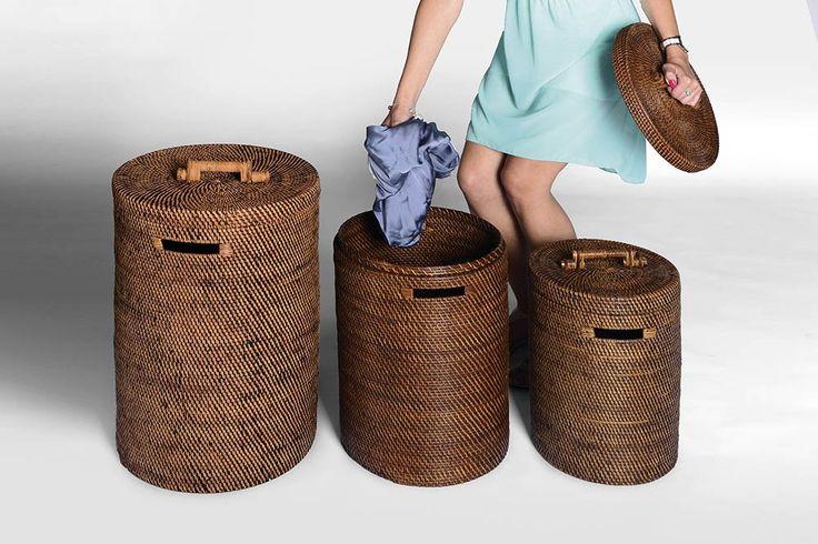 Proutěný prádelní koš, velký, SAPHO E-shop