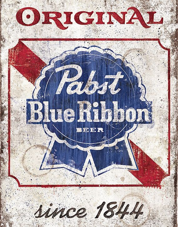 Pabst Blue Ribbon Vintage Sign  12x18 High Quality by BoxingBear, $20.00