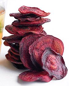 Beet Chips - this should be easily adapted to use with Actifry