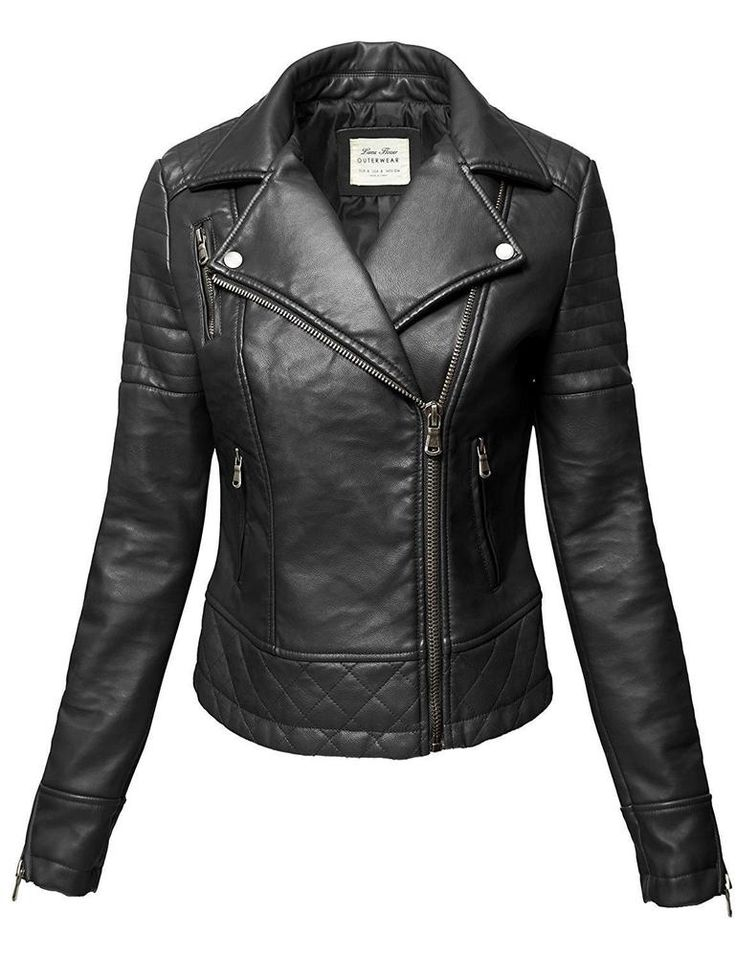 Luna Flower Womens Faux Leather Bomber Hoodie Motorcycle Slim Fit Jacket Black-M #LunaFlower #Bomber #Outdoor