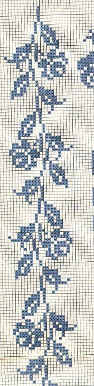 rose Cross stitch border: