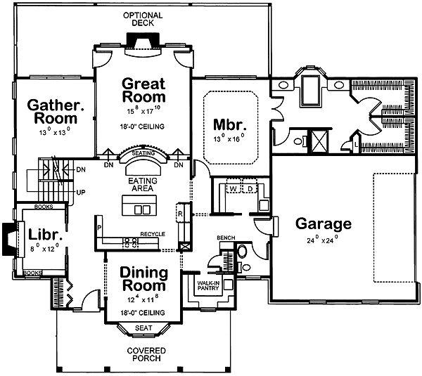 Plan 41583DB: Unique Floor Plan