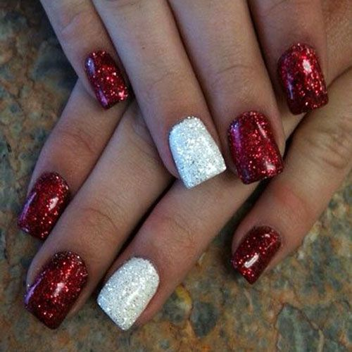 red-white-glitter-nail-art-christmas