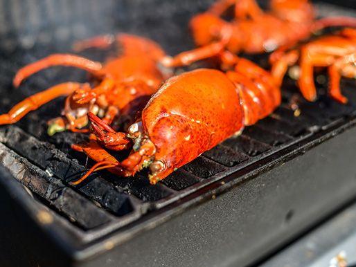 How make grilled lobster with lemon-shallot butter #recipe #grilling via @Sandy Bonner Eats NY