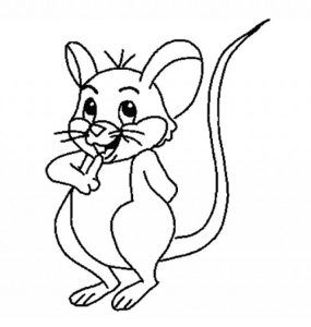 mouse coloring pages fo kids preschool and kindergarten