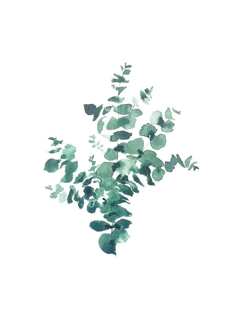 Faire Part Mariage A L Aquarelle Vegetal Eucalyptus Rock Et