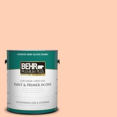 BEHR Premium Plus 1-gal. #P200-2 Sensual Peach Semi-Gloss Enamel Interior Paint