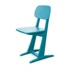 Stoel chaise À patin turquoise van Laurette