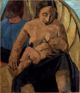Felice Casorati, Studio per la barca, Olio su tela, 49×56,7 cm, 1933, Collezione privata