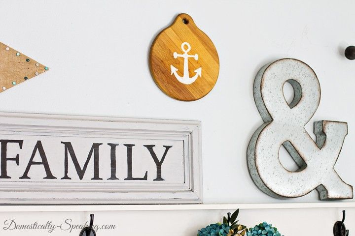 Thrift Store DIY Anchor Home Decor