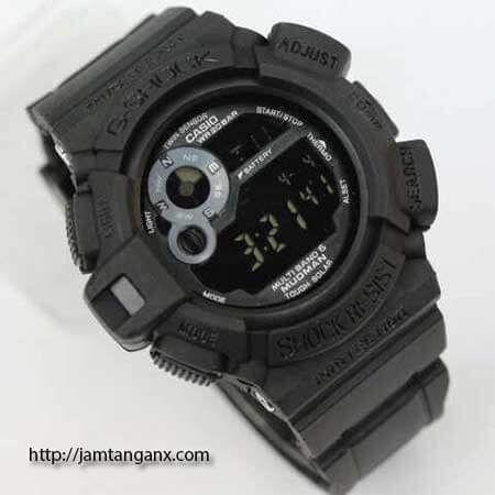 jam tangan g shock g-9300mudman warna hitam abu