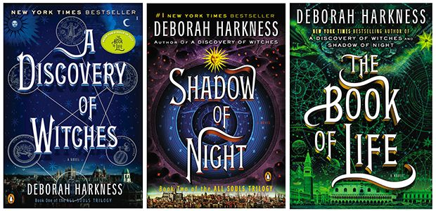 """(STARTED 5/12) A trilogy: The """"All Souls Trilogy"""" by Deborah Harkness.  1st one is a re-read for me but other two I have not read before."""