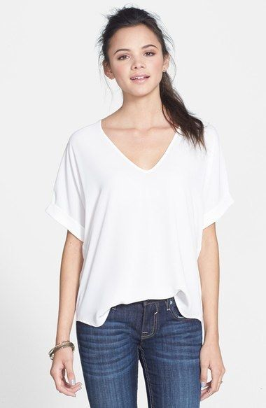 Lush Cuff Sleeve Woven Tee https://api.shopstyle.com/action/apiVisitRetailer?id=448744006&pid=uid6400-33961420-65