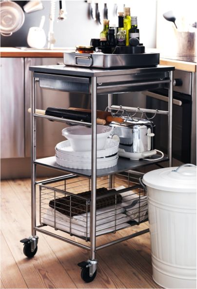 our new grundtal kitchen cart makes for a perfect kitchen