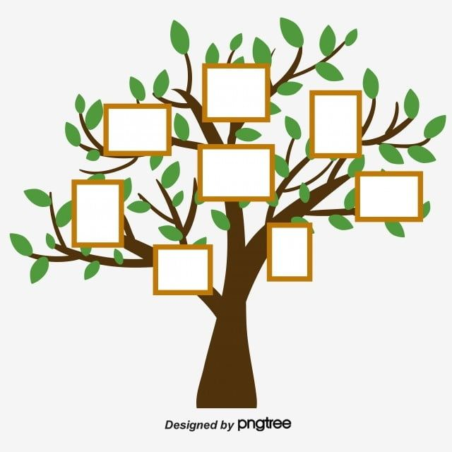 Simple Hand Painted Creative Family Tree Family Tree Graphic Family Tree Art Family Tree Painting