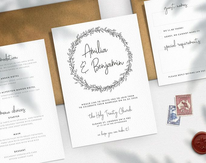 Contemporary Wedding And Event Stationery By Diamondstarsprint In 2020 Create Wedding Invitations Contemporary Wedding Floral Save The Dates