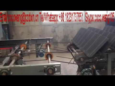stone coated tile roll forming machine vedio from Coco
