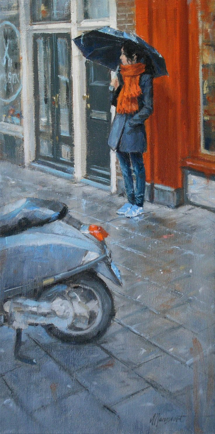 Waiting for a friend #5 | oil on linen painting by Richard van Mensvoort