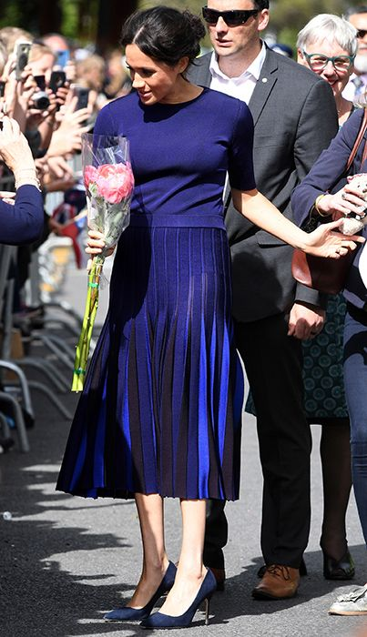 f4f132a530 Duchess Meghan wore a see-through skirt in New Zealand – and no one ...