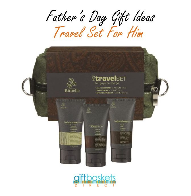 Not sure of what to buy for your Dad? How about this Travel Set For Him gift? www.giftbasketsdirect.com.au/urban-rituelle-travel-set-for-him.html #FathersDay #FathersDayGift #FathersDayGiftIdeas #TravelKit