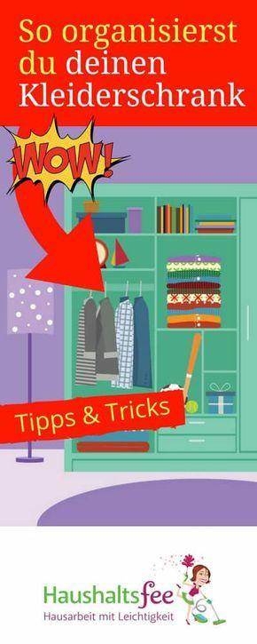 Simple  geniale Beispiele f r Ordnung im Kleiderschrank