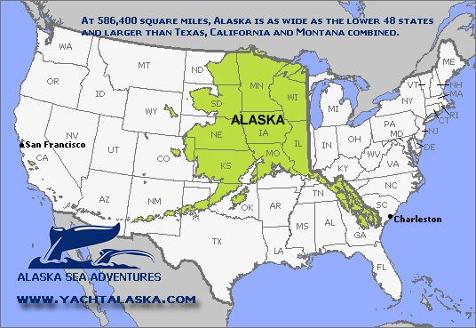 Just in case you ever thought Texas was bigger than Alaska, here is a scale map showing just how large our 49th state really is.