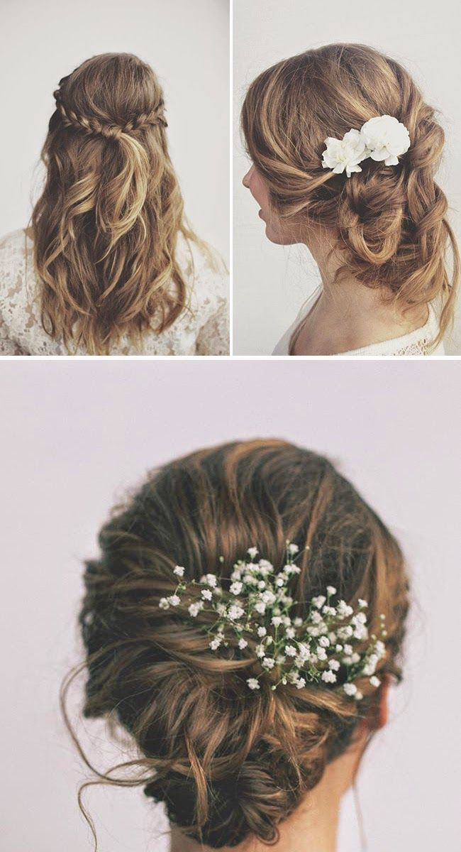Bridal Hairstyles For Long Hair With Flowers : Best 25 babys breath hair ideas on pinterest casual wedding