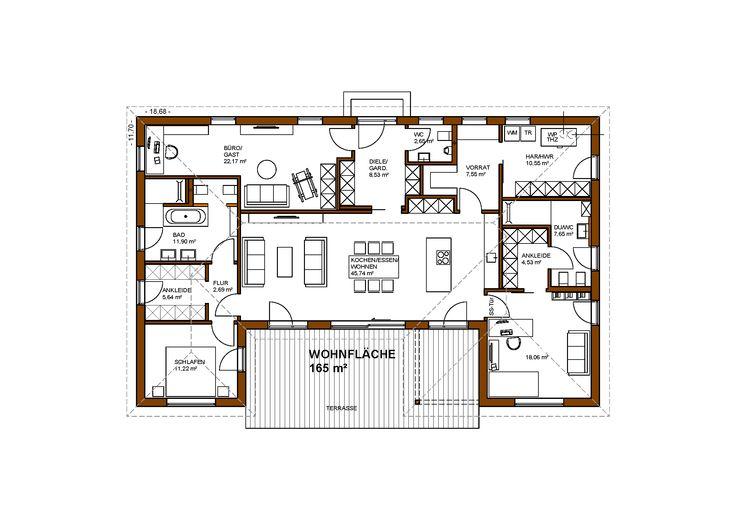 Bungalow 165 M² Wohnfläche Individuelle Planung Für 3