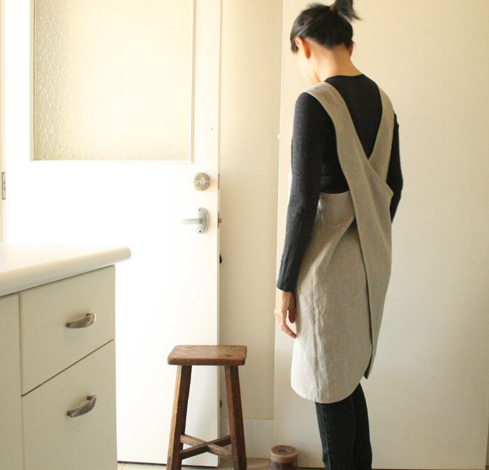 LINEN PINAFORE / womens linen clothing / linen dress / smock / linen tunic / cafe apron / organic / made in australia by pamelatang by PAMELATANG on Etsy https://www.etsy.com/listing/196307422/linen-pinafore-womens-linen-clothing
