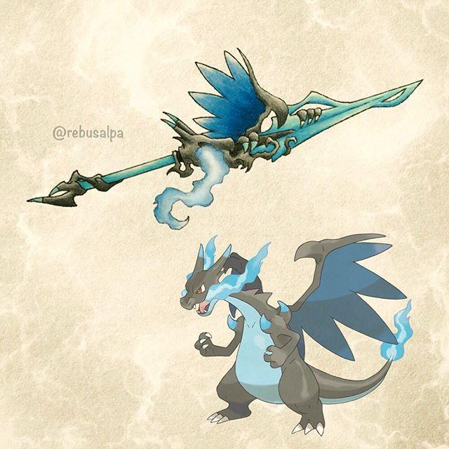 Mega Charizard X Pokemon Weapon