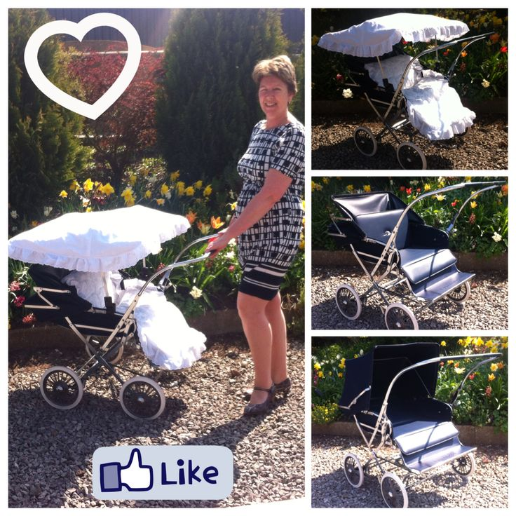 Cumfifolda Twin Promenade Pram/Pushchair in Navy with Sun