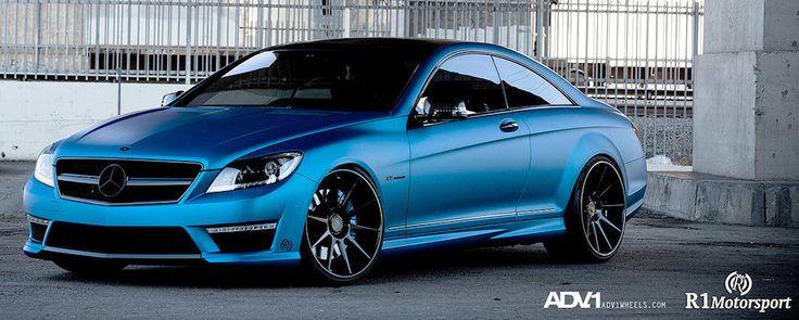 Black & Blue!   Sick matte blue Mercedes AMG CL63