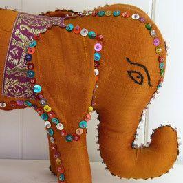 Sambhali Silk Elephant (Amber) created by graduates of Sambhali Trust - empowering the women and children of tomorrow... #silversari