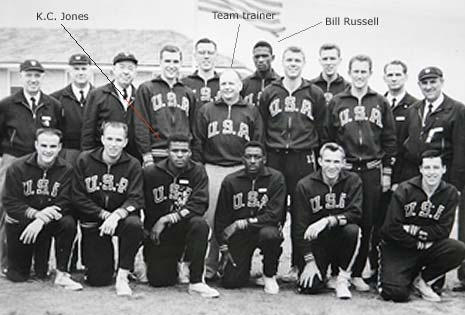 A portrait of the USA team, taken in Melbourne during the 1956 Olympic Games.