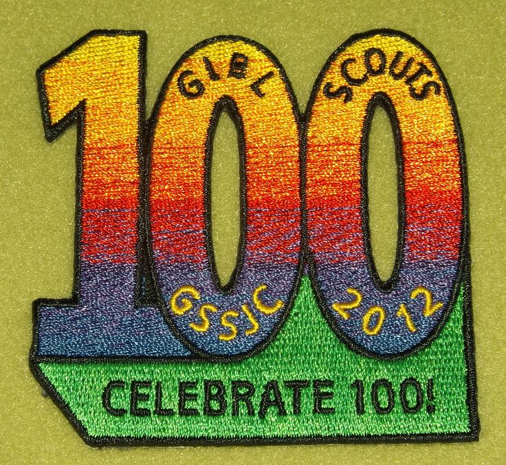 girl scouts san jacinto 100th anniversary patch celebrate