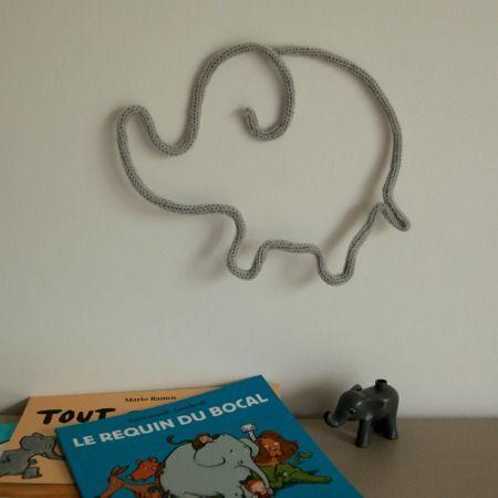 éléphant en tricotin - dans les boites d'Eliaure