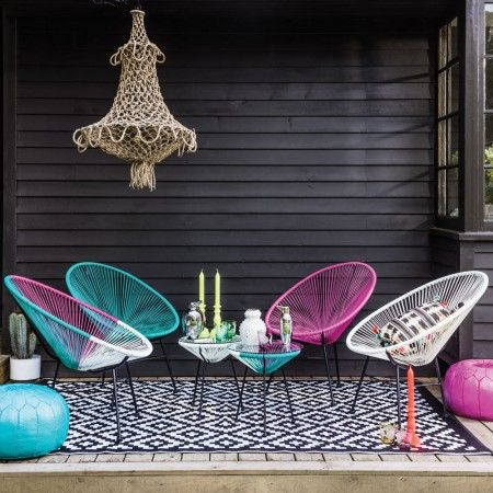Anora String Garden Chairs - Graham and Green.  I love this new bohemian set up from Graham and green.  Gorgeous!